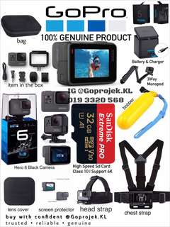 GOPRO HERO 6 BLACK TRAVEL PACKAGE -GOPRO MURAH - GOPRO MURAH KL