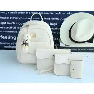 4 in 1 Elegant bag White more color