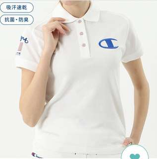 Must Have👍🏻🎊 Champion Polo Shirt 👕👚 (White)