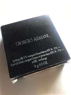 🈹Giorgio Armani lasting silk UV compact foundation SPF34/PA+++ 3.5號色