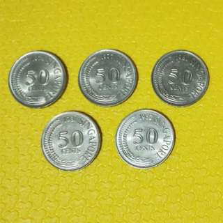 Old Singapore Coins 50cents