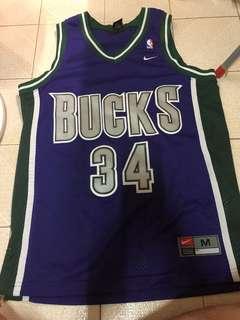 Nike NBA Bucks Ray Allen Gun jersey 球衣