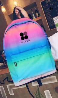 BTS dark rainbow school bag