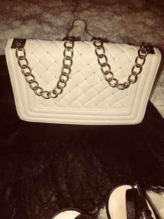 Beautiful white shoulder bag