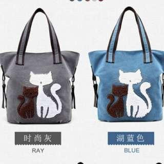 🐱🐈貓貓帆布袋🐾(5款顏色選購)