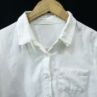 Kemeja Putih Gading Cotton Linen CK241