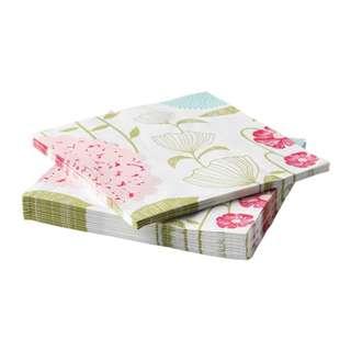 [IKEA] FESTDAGEN Paper napkin, flowers 30pieces