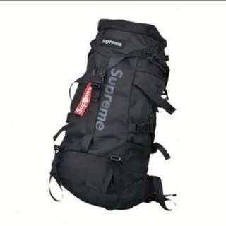 Supreme Black Backpack Waterproof Canvas Large [READY STOCK]
