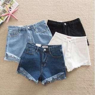 [PO] Denim High Waisted Shorts
