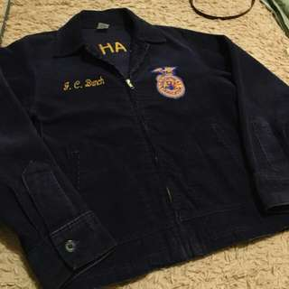 古著 FFA美國未來農耕學院外套 燈芯絨 vintage