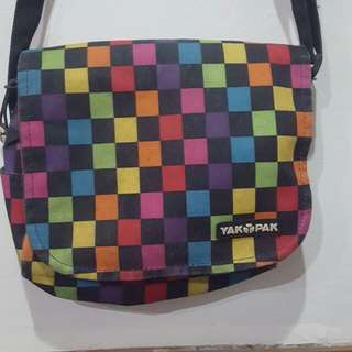 Authentic YakPak Checkered Sling Bag