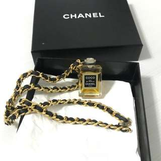 Authentic Chanel Coco Perfume Necklace