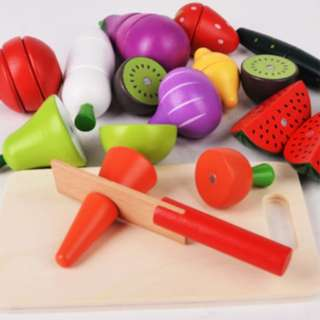 *In Stock* BN Wooden Magnetic Fruits & Vegetables Cutting Foods Toy Set
