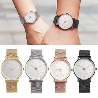 Quartz thin & classy watch (Black)