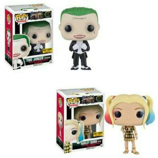 The Joker Tuxedo and Harley Quinn Gown Hot Topic Exclusive Funko Pop