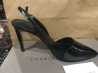 Brand new Charles & Keith black sling back