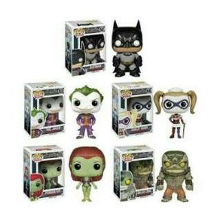 Arkham Asylum Batman Harley Quinn The Joker Killer Croc Poison Ivy