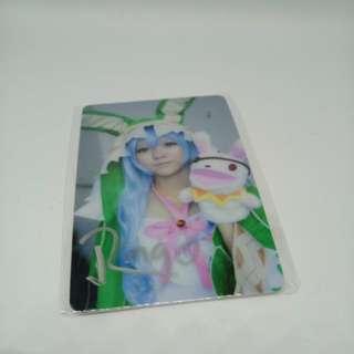 Date a live Yoshino Cosplay Card sticker