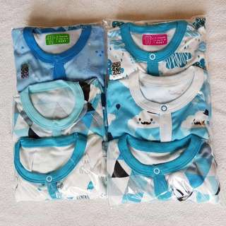 📮FREE Mailing • 3pcs Baby Footed Sleepsuits Onesie with Integrated mittens