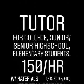 Tutor for Statistics, Research, Thesis Writing, & any Psychology Subjects
