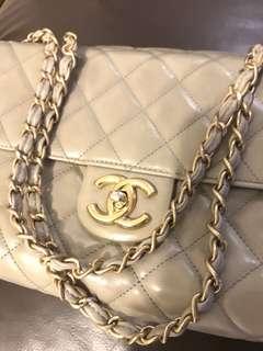Chanel Cream Colour Bag 100% Real 手袋