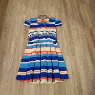 A Wear multi colour dress