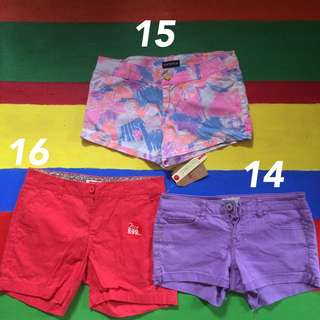shorts for 100