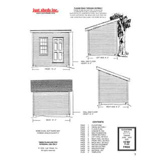 Woodworking Plans For 8 x 10 Shed eBook
