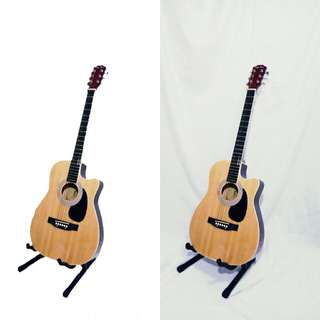 Gitar acoustik elektrik king lion pream 7545R
