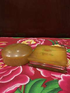 Vintage Genuine Alabaster Hand Carved Box