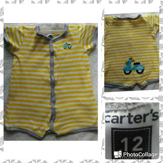 Yellow Carter's Romper