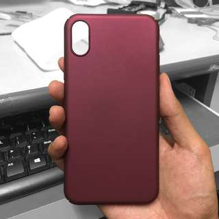 Ultra slim shockproof hybrid hard case for iPhone X (Purple)