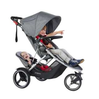 Phil and Teds Dash - Double In-line stroller