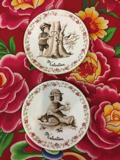 Royal Copenhagen 'Be my valentine' Porcelain Plates