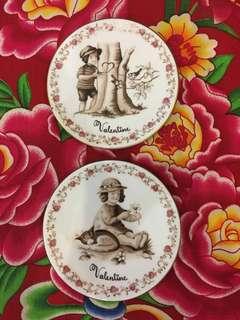 Royal Copenhagen 'Be my valentine' Porcelain Plates