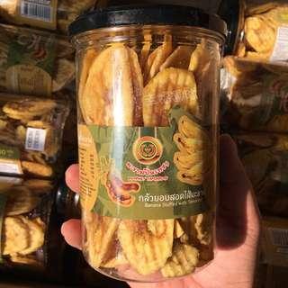 🚚 泰國代購 ✈ 香蕉🍌厚切脆片羅望夾心餅