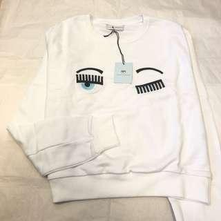 ❤️CHIARA FERRAGNI❤️眨眼白色T-shirt衛衣長袖