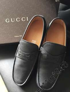 AUTH 真 GUCCI LOAFERS 皮 鞋 靴 BOOTS SNEAKERS SHOES CHANEL HERMES FENDI BVLGARI CARTIER CELINE TOD'S BV VALENTINO ROLEX AP RV LV LOUIS VUITTON