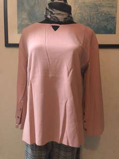 TMO 005 top button with 3 colour available Pink , Light green , choc READY STOCK