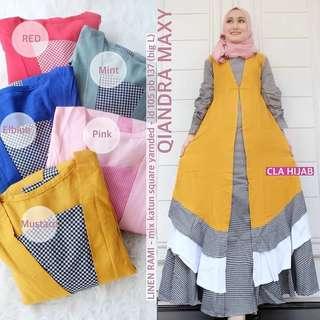 WDD - 0318 - Dress Gamis Busana Muslim Qiandra