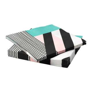 [IKEA] HEMMASTADD Paper napkin, multicolour 30pieces