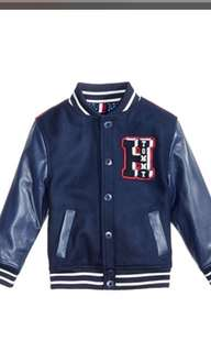 Jacket Bomber Navy Blue Red Boy Kid winter coat