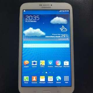 Samsung Galaxy Tab 3,8.0 inches(Sim slot),4g,white,used