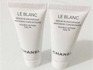 3x5mlAuthentic Chanel Le Blanc Whitening Concentrate Double Action TXC