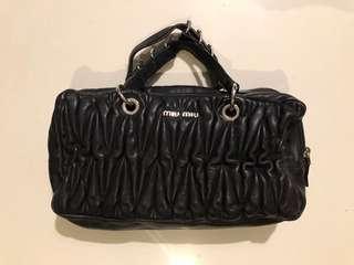 Authentic Miu Miu leather black bag (small)