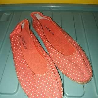 Polkadots flat shoes