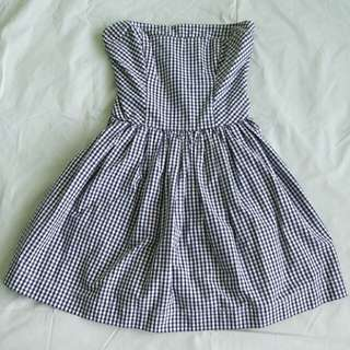 Abercrombie & Fitch Gingham Tube Dress