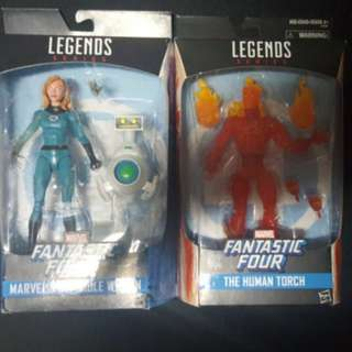 Marvel legends human torch invisible woman