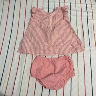 Mango Kids Blouse and Bottom Set