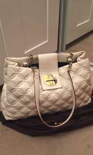 White leather Kate Spade shoulder bag